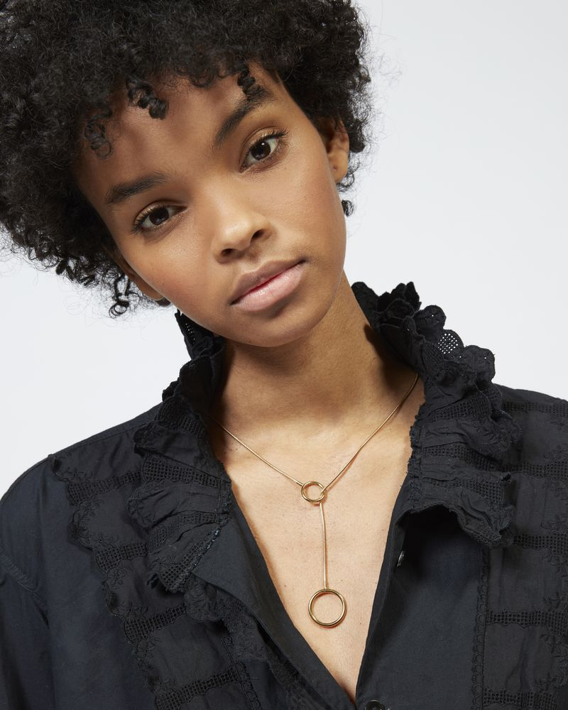 JEANNOT silver tone necklace ISABEL MARANT