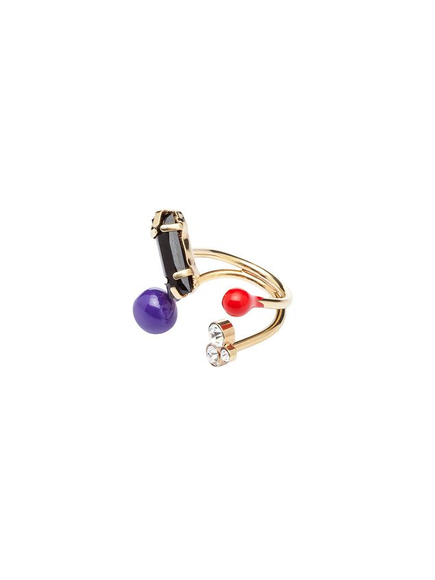 Marni Gold metal ring Woman - 2