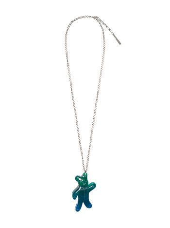 Marni Blue bear necklace in metal and resin Man