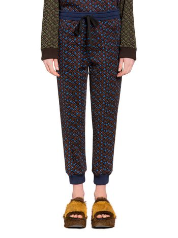 Marni Pants in technical jersey with pin-tuck Woman