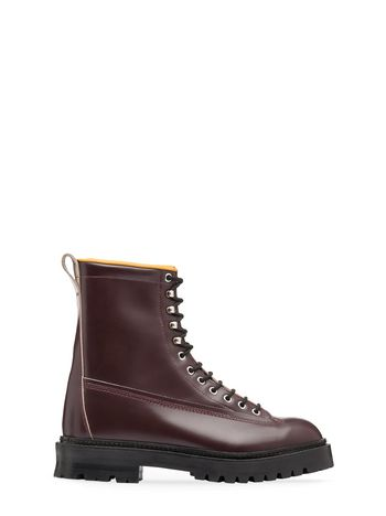 Marni Calfskin half boot with contrasting lining Man