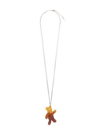 Marni Amber bear necklace in metal and resin Man