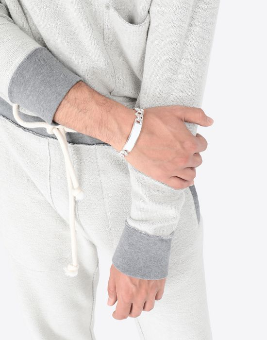 MAISON MARGIELA Contrasted anonymous ID bracelet Bracelet [*** pickupInStoreShippingNotGuaranteed_info ***] a