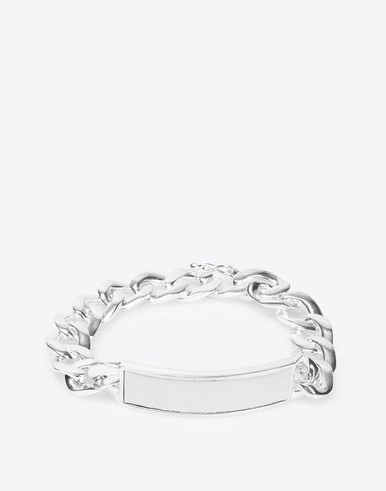 MAISON MARGIELA Contrasted anonymous ID bracelet Bracelet [*** pickupInStoreShippingNotGuaranteed_info ***] f