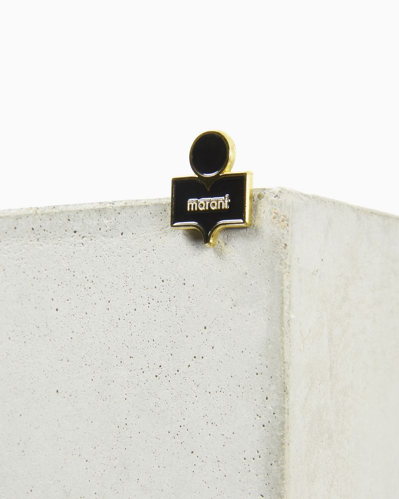 CRAZY LOGO pin brooch ISABEL MARANT