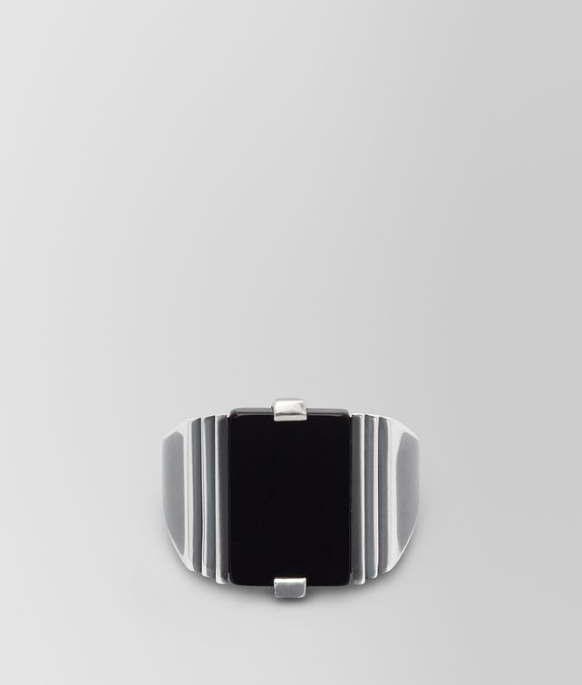 BOTTEGA VENETA NERO SILVER RING Ring [*** pickupInStoreShippingNotGuaranteed_info ***] fp