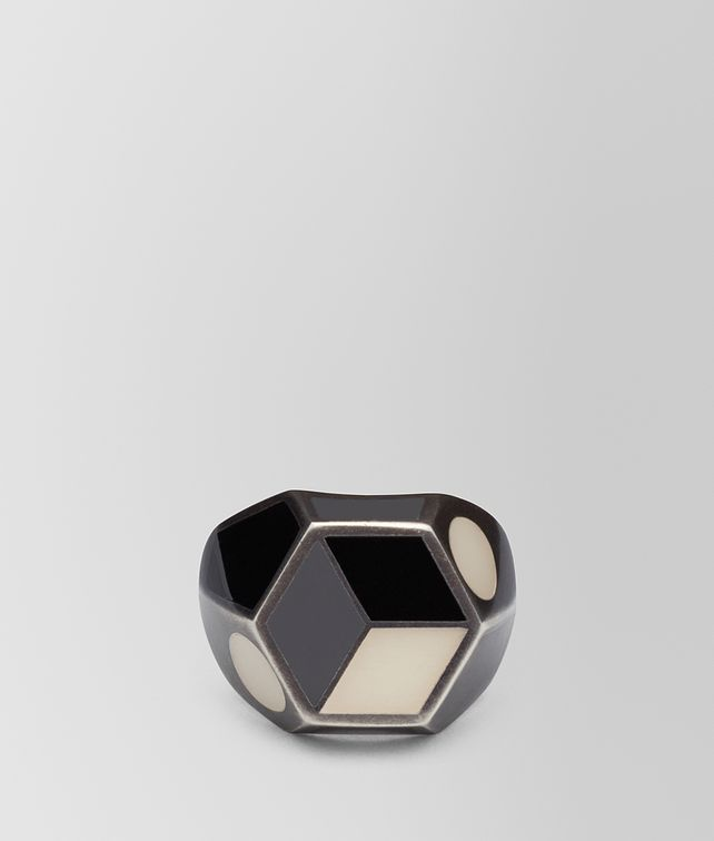 BOTTEGA VENETA MULTICOLOR SILVER RING Ring Woman fp