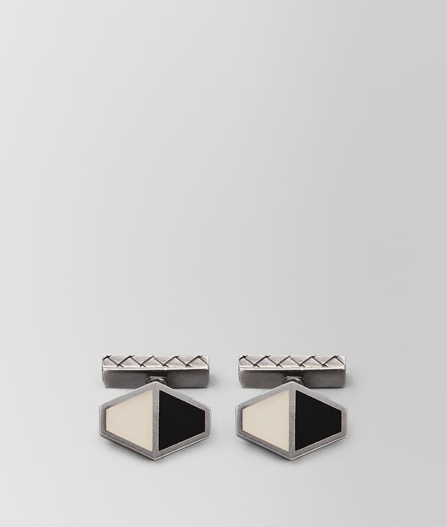 BOTTEGA VENETA NERO/MIST SILVER CUFFLINKS Other Jewellery [*** pickupInStoreShippingNotGuaranteed_info ***] fp