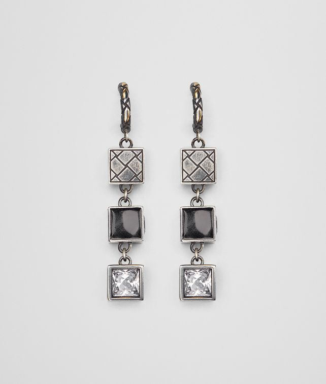 BOTTEGA VENETA CUBIC ZIRCONIA/ENAMEL/SILVER EARRING Earrings Woman fp