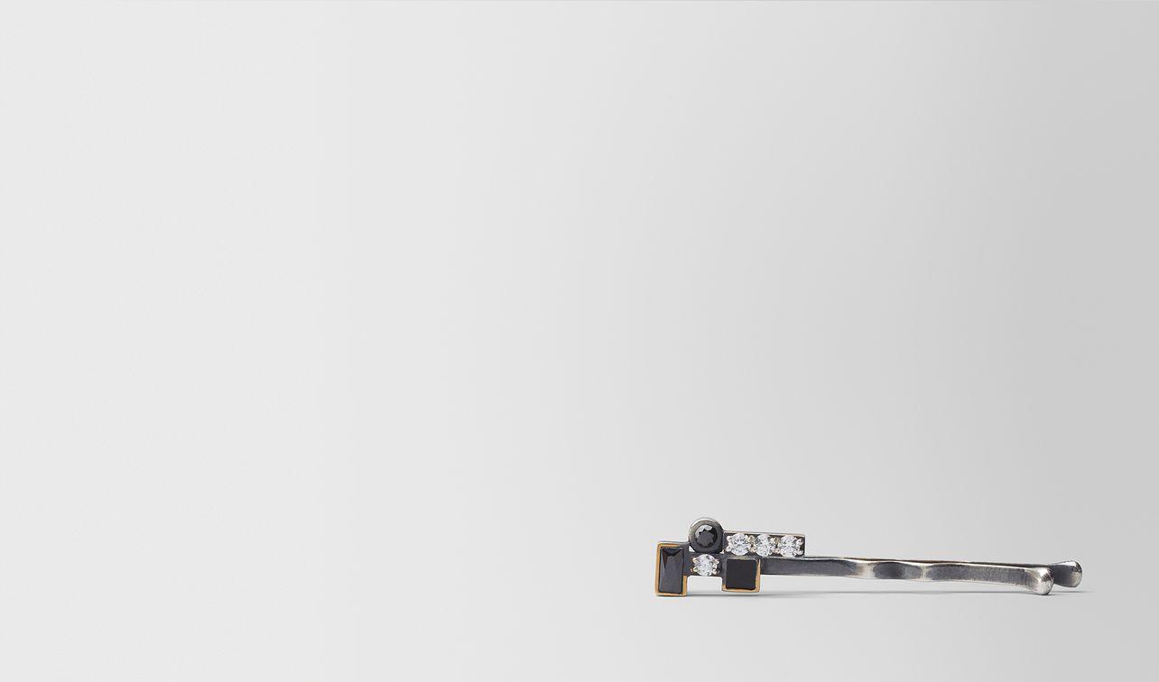 cubic zirconia/enamel/silver hair clip landing