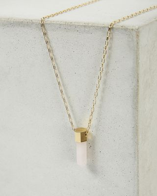 CRYSTAL gold tone necklace
