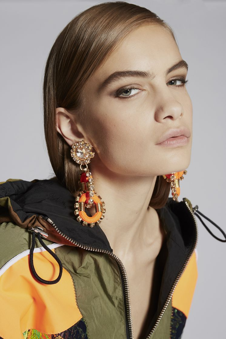 DSQUARED2 Backyard Punk Crystalized Cable Earrings Earrings Woman