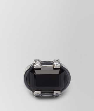 ONYX/CUBIC ZIRCONIA/SILVER RING