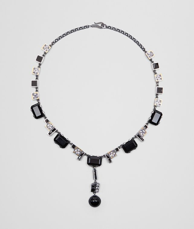 BOTTEGA VENETA ONYX/SILVER/CUBIC ZIRCONIA NECKLACE Necklace Woman fp