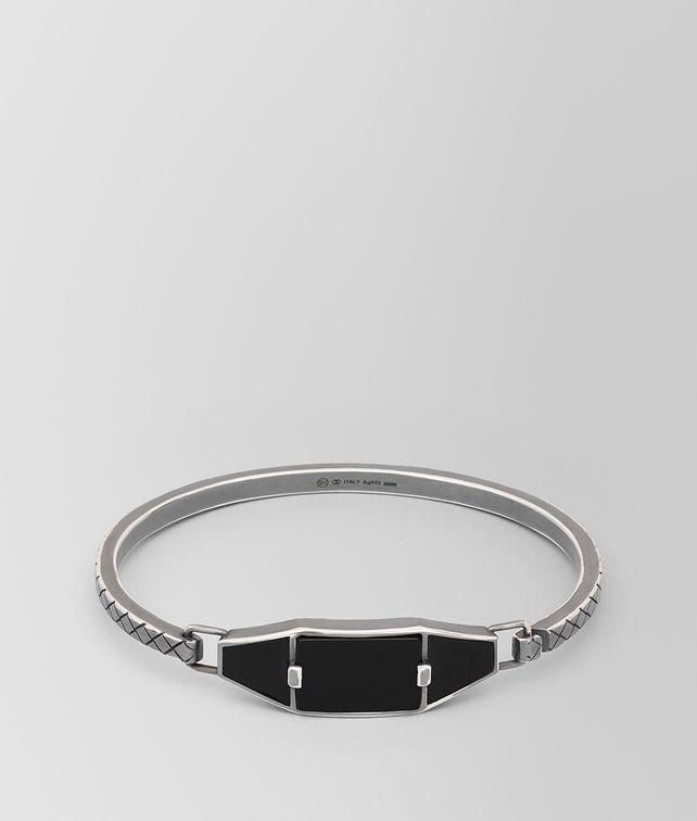 BOTTEGA VENETA ONYX/SILVER/ENAMEL BRACELET Bracelet [*** pickupInStoreShippingNotGuaranteed_info ***] fp