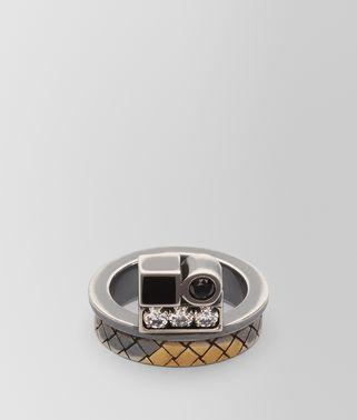 方晶氧化锆/珐琅/银戒指