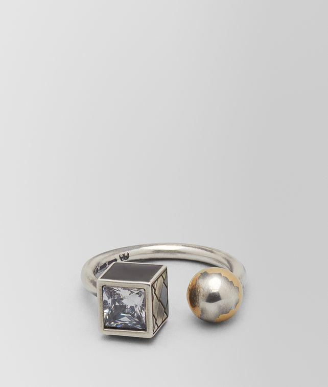 BOTTEGA VENETA CUBIC ZIRCONIA/ENAMEL/SILVER RING Ring Woman fp