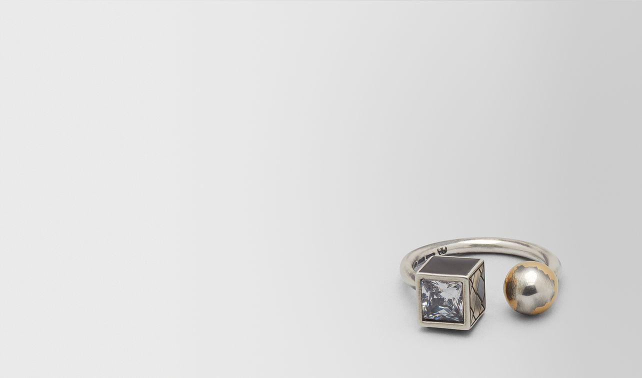 cubic zirconia/enamel/silver ring landing