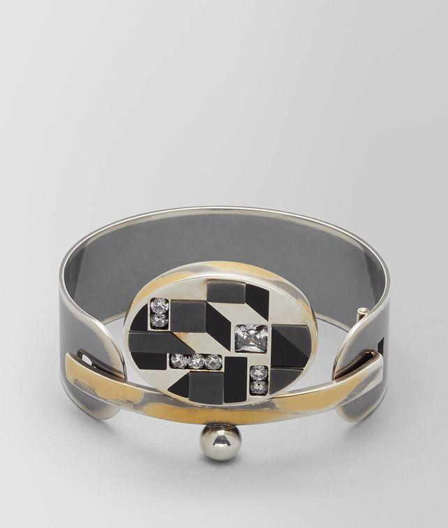 BOTTEGA VENETA ONYX/CUBIC ZIRCONIA/SILVER BRACELET Bracelet [*** pickupInStoreShipping_info ***] fp