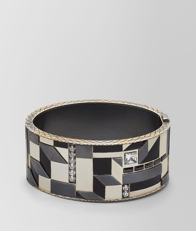 BOTTEGA VENETA CUBIC ZIRCONIA/ENAMEL/SILVER BRACELET Bracelet Woman fp