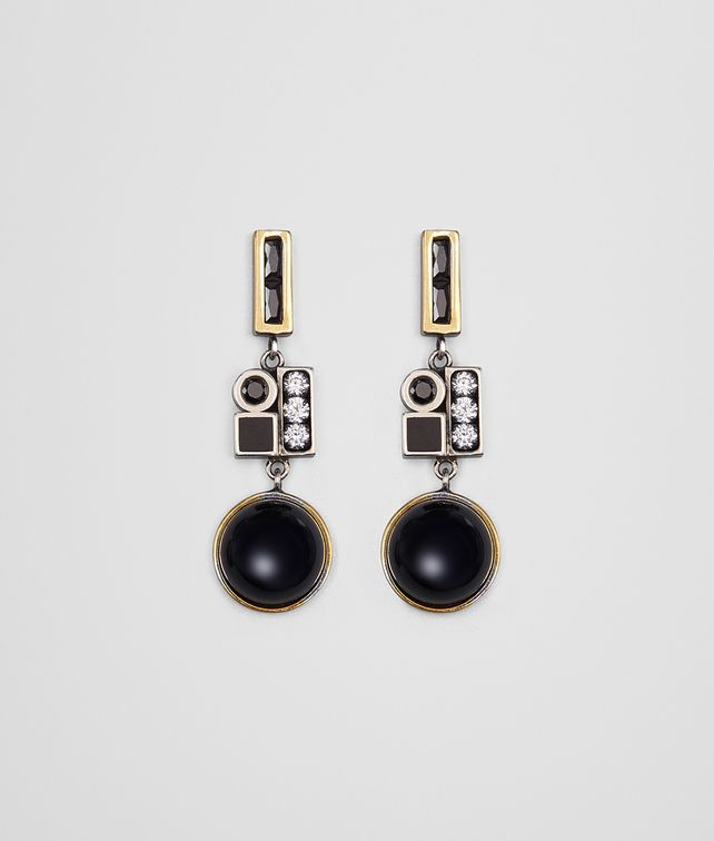 BOTTEGA VENETA ONYX/SILVER/ENAMEL EARRING Earrings [*** pickupInStoreShipping_info ***] fp