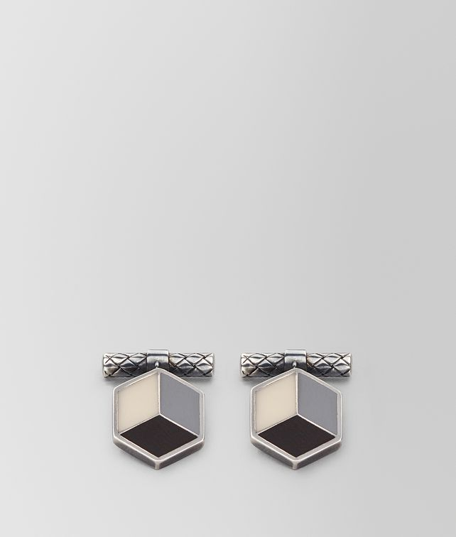 BOTTEGA VENETA MULTICOLOR SILVER CUFFLINKS Other Jewellery Man fp