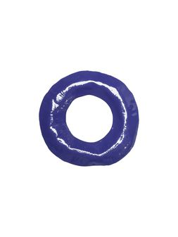 Marni RIOT rigid bracelet in blue enameled metal Woman