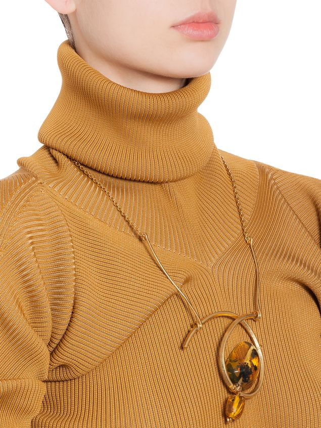 Marni AMBER necklace in brass Woman - 2