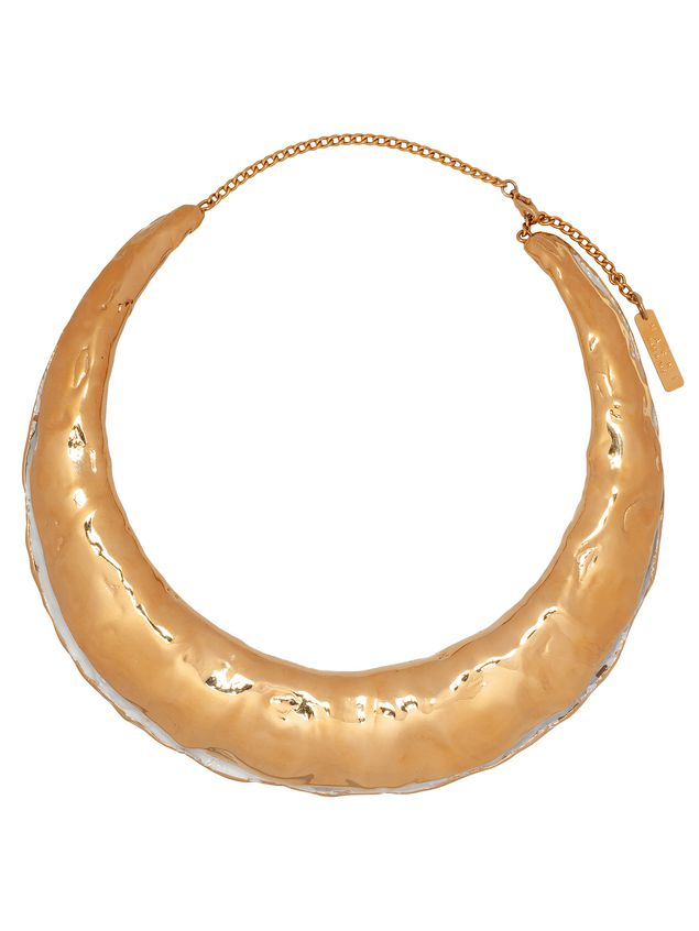 Marni TRIBE crescent choker necklace in metal Woman - 1