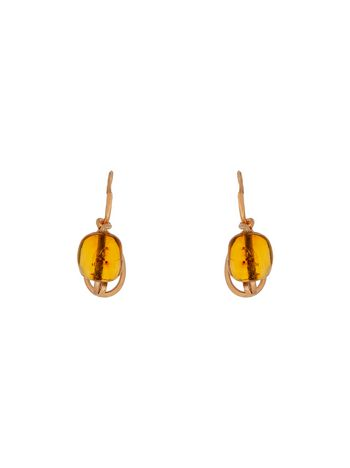 Marni AMBER leverback earrings in brass Woman