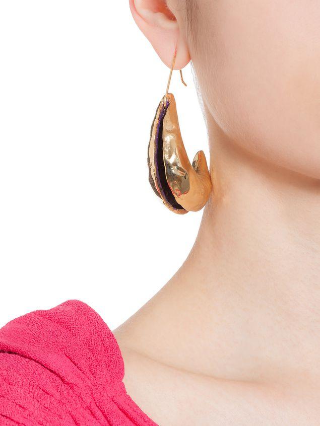 Marni Hook earrings in brass TRIBE Woman - 2