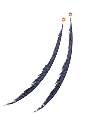 Marni MONILE clip-on earrings in metal and feather Woman