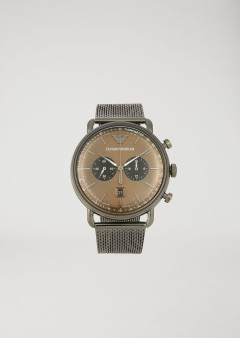 Stainless steel chronograph with tachymeter dial