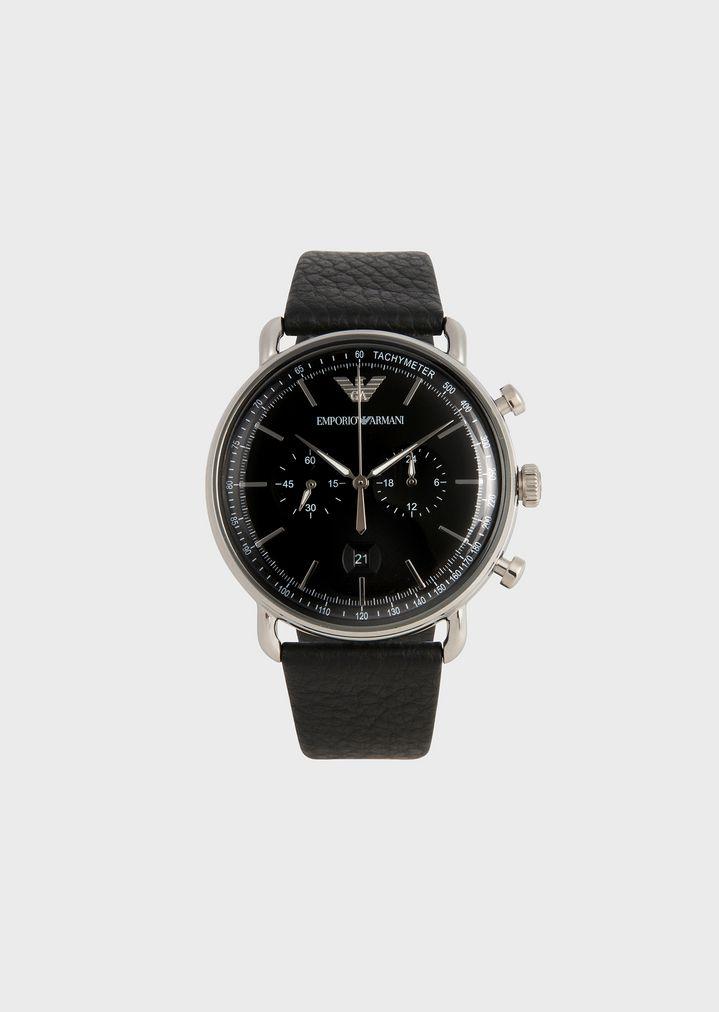 2af5ff9697d4 Reloj con esfera redonda y correa de piel abatanada