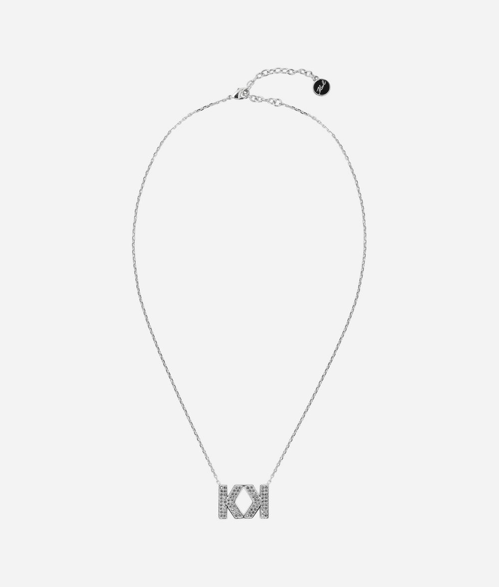 KARL LAGERFELD Double K Necklace Necklace Woman f