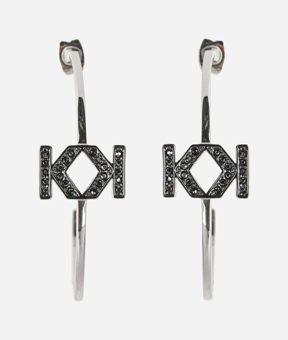 KARL LAGERFELD Double K Hoop Earring Earring Woman f