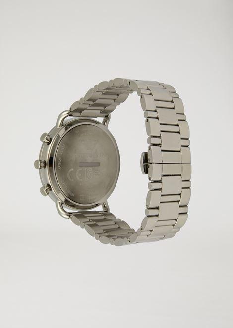 Smartwatch Hybrid con correa de acero de tres cadenas de eslabones