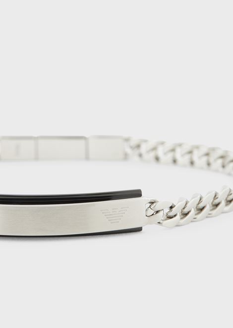 Chain bracelet with contrasting profile plate