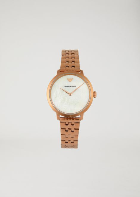 Woman two-hands stainless steel watch