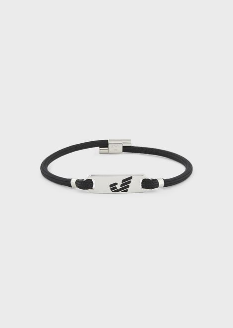 Bracelet featuring stainless steel plate with the Emporio Armani logo