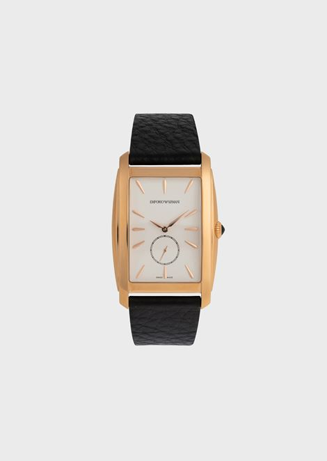 Men's Swiss Made Rectangle Automatic Two-Hand Watch