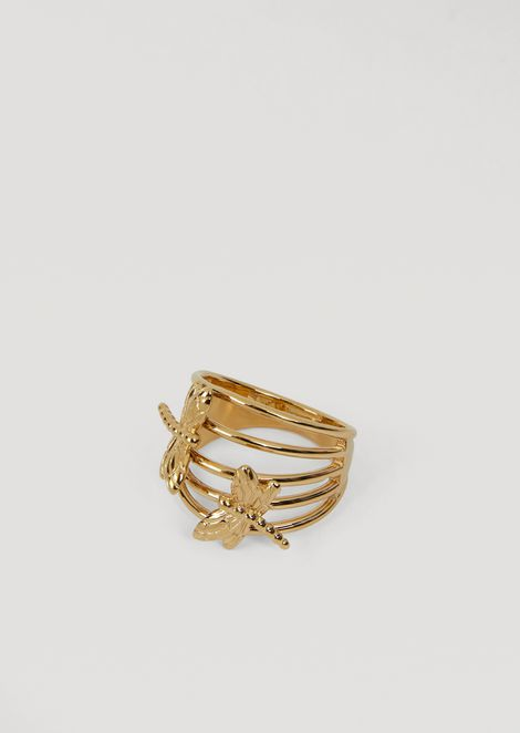 蜻蜓装饰多圈戒指