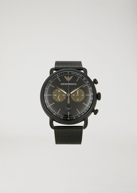 ab0a0dfda12 Stainless steel chronograph with tachymeter dial