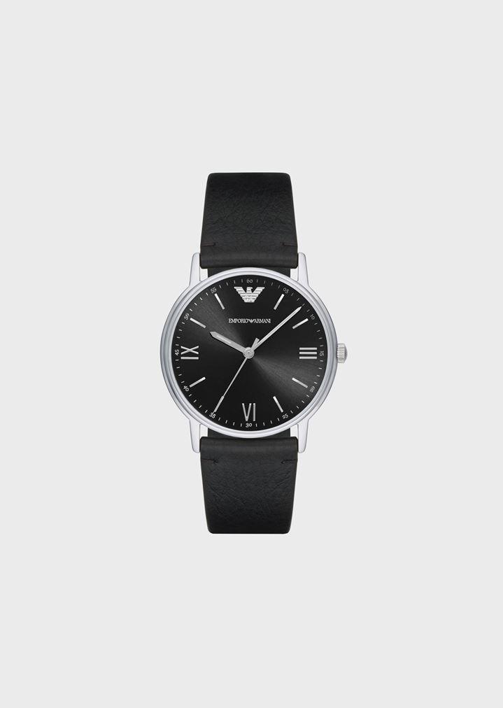 6564dbd3270 Reloj resistente al agua de acero inoxidable con correa de piel ...