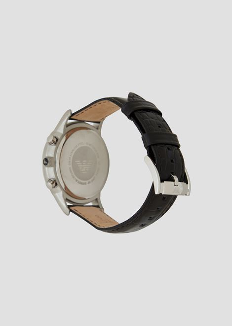 Man leather cronograph