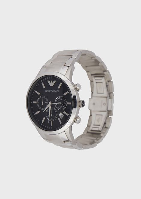 Chronograph with steel case and bracelet