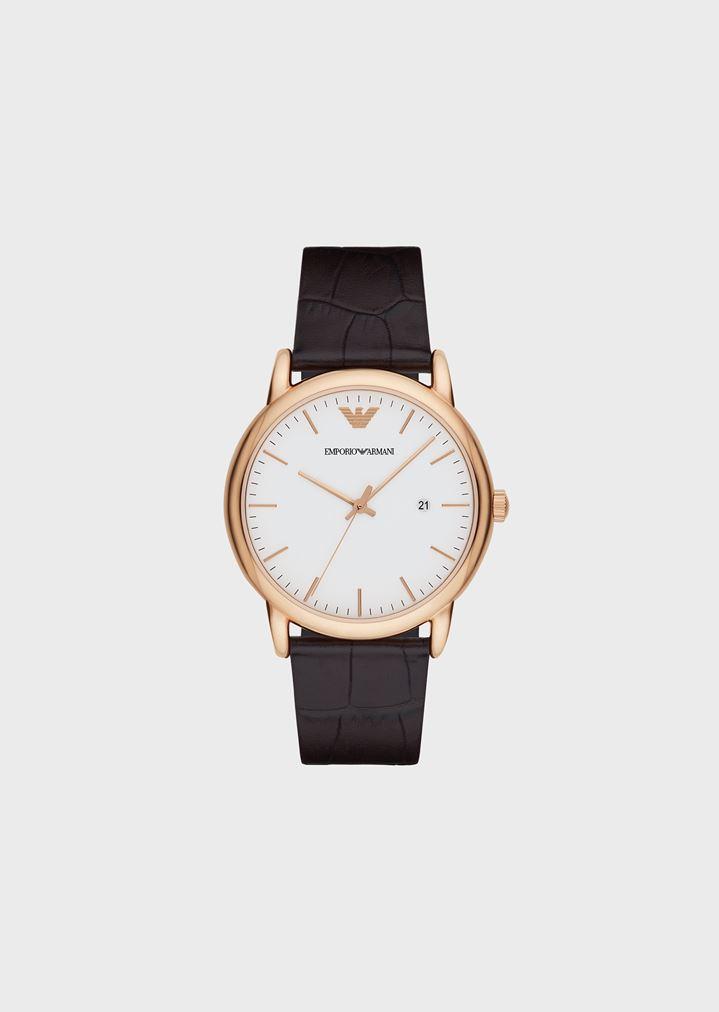 cozy fresh uk cheap sale innovative design Uhr mit Gehäuse aus Edelstahl, Zeigern mit Plattierung in ...