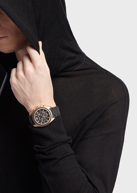Man rubber cronograph