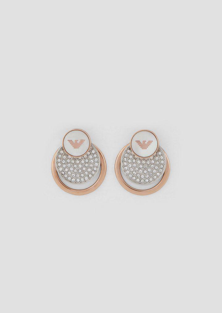 99e3f42b39 Zusammensetzbare Ohrringe mit Logo und Strass
