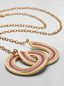 Marni RAINBOW necklace in metal and leather with two circles Woman - 3